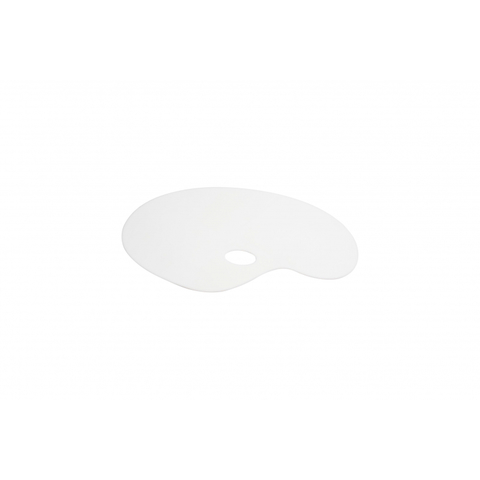Палитра акриловая овальная, белая, 21х31см, оргстекло 2мм, ПБ21312