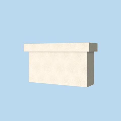 База пилястры из пенопласта с покрытием