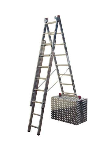 Трехсекционная универсальная лестница с допфункцией CORDA 3х9