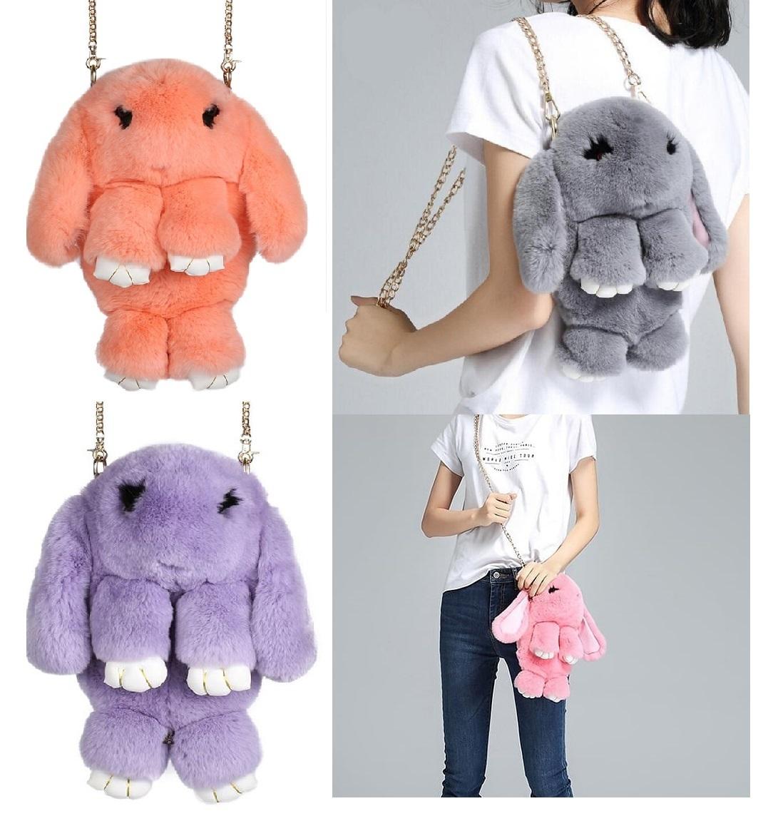Кролик сумка рюкзак из меха