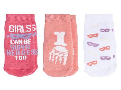 Носки детские с силиконовой подошвой (бледно-розовые) Lupilu