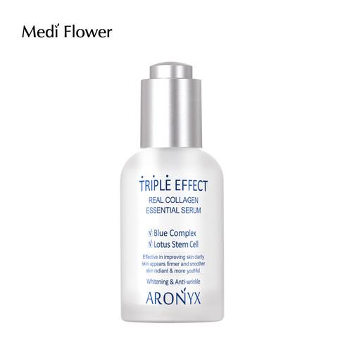 Сыворотка с морским коллагеном  - Aronyx Тройной эффект Medi Flower
