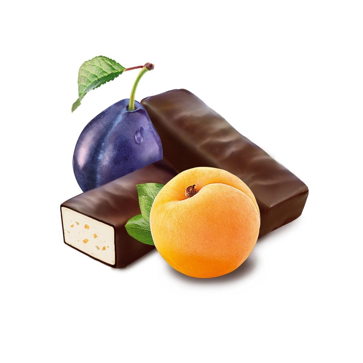 Медофеты Суфле Ассорти с курагой/черносливом и медом в шоколадной глазури Galagancha 350 г