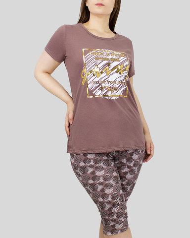 Комплект женский футболка с бриджами