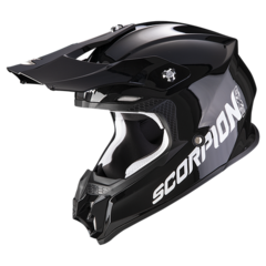 Мотошлем кроссовый Scorpion EXO VX-16 Air Solid, чёрный