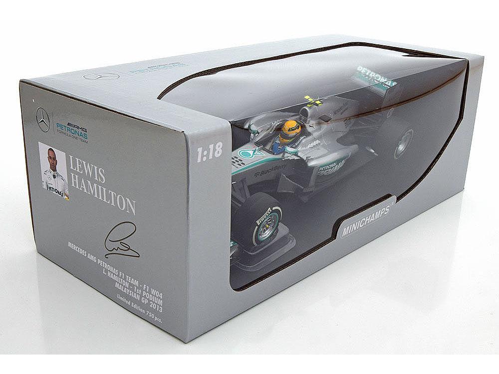 Коллекционная модель Mercedes-Benz AMG F1 W04 1st Podium GP Malaysia 2013 Hamilton