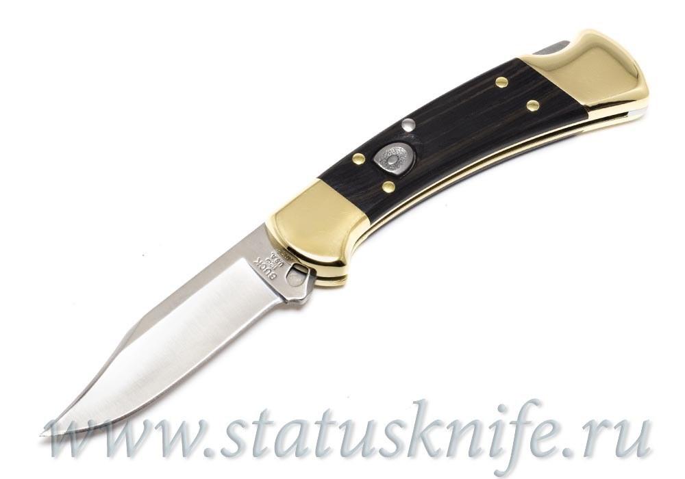 Нож BUCK 0112BRSA 112 RANGER DYMONDWOOD/BRASS AUTO KNIFE
