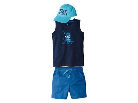 Костюм для мальчика футболка+шорты+кепка