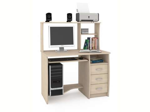 Компьютерный стол Комфорт 4 СКР Моби дуб паллада