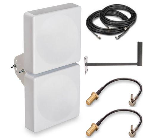 Антенный комплект с антенной для LTE модемов Дача-Универс-15dbами для модемов