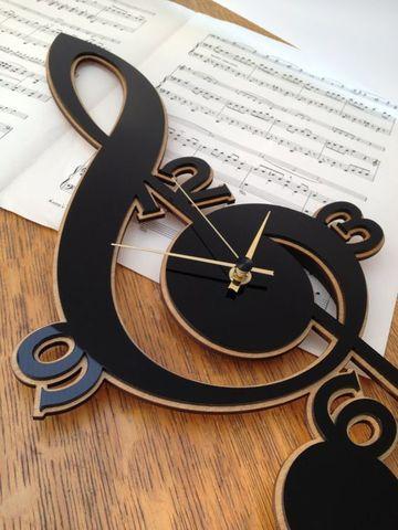 детские часы скрипичный ключ