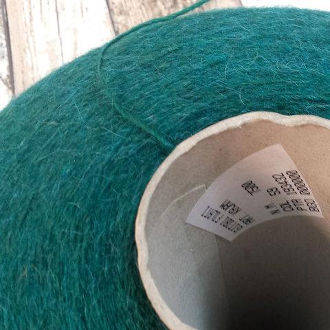 Смесовка с альпакой GITIBI KAJAM 750 зеленый бутылочный