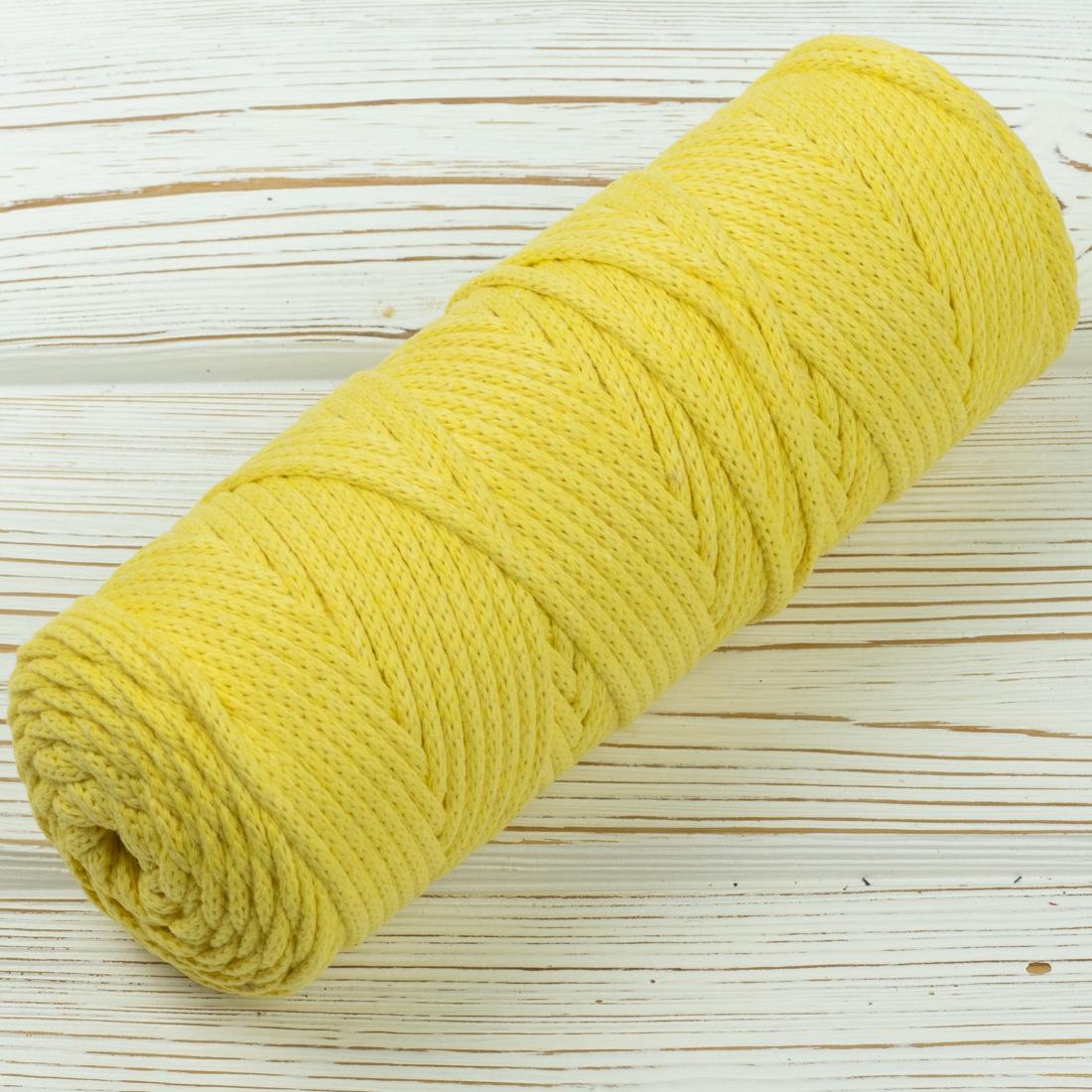 Хлопковый шнур Шнур 4мм Желтый IMG_6009.jpg