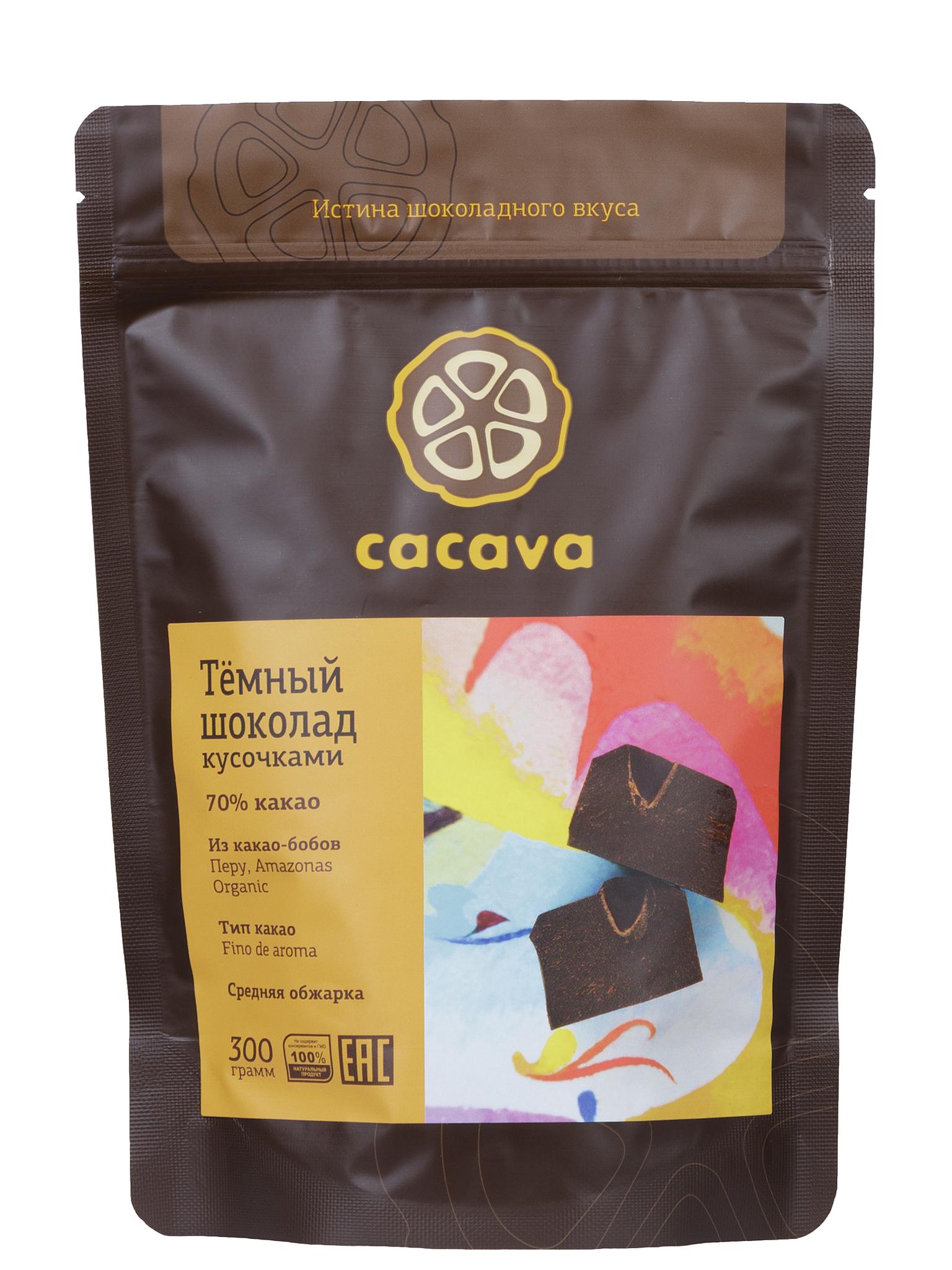 Тёмный шоколад 70 % какао (Перу, Amazonas), упаковка 300 грамм