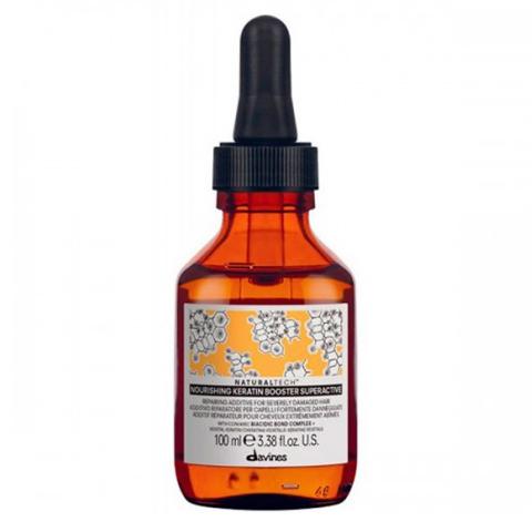Davines NaturalTech Nourishing:  Питательная кератиновый бустер для восстановления сильно поврежденных волос (Nourishing Keratin Booster), 100мл