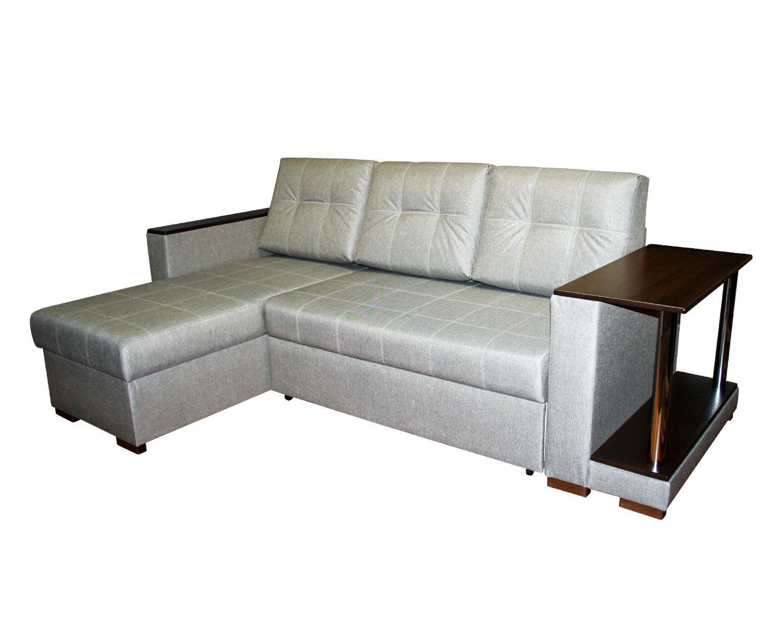 угловой диван-кровать Карелия-Люкс 2я2д со столом