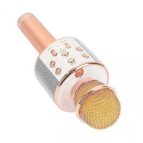 Микрофон караоке Wster WS-858 2 в 1 беспроводной