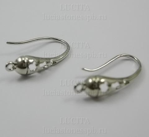 """Швензы - крючки """"Ажурные-3"""" 20 мм (цвет - никель) ()"""
