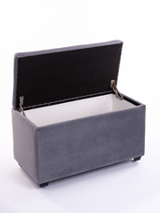 Пф-800-Я Пуфик квадратный (серый) с ящиком для хранения