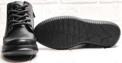 Термоботинки. Черные кеды с черной подошвой женские Evromoda 535-2010 S.A. Black.