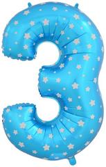 К Цифра, 3, Синий, (40''/102 см), 1 шт.