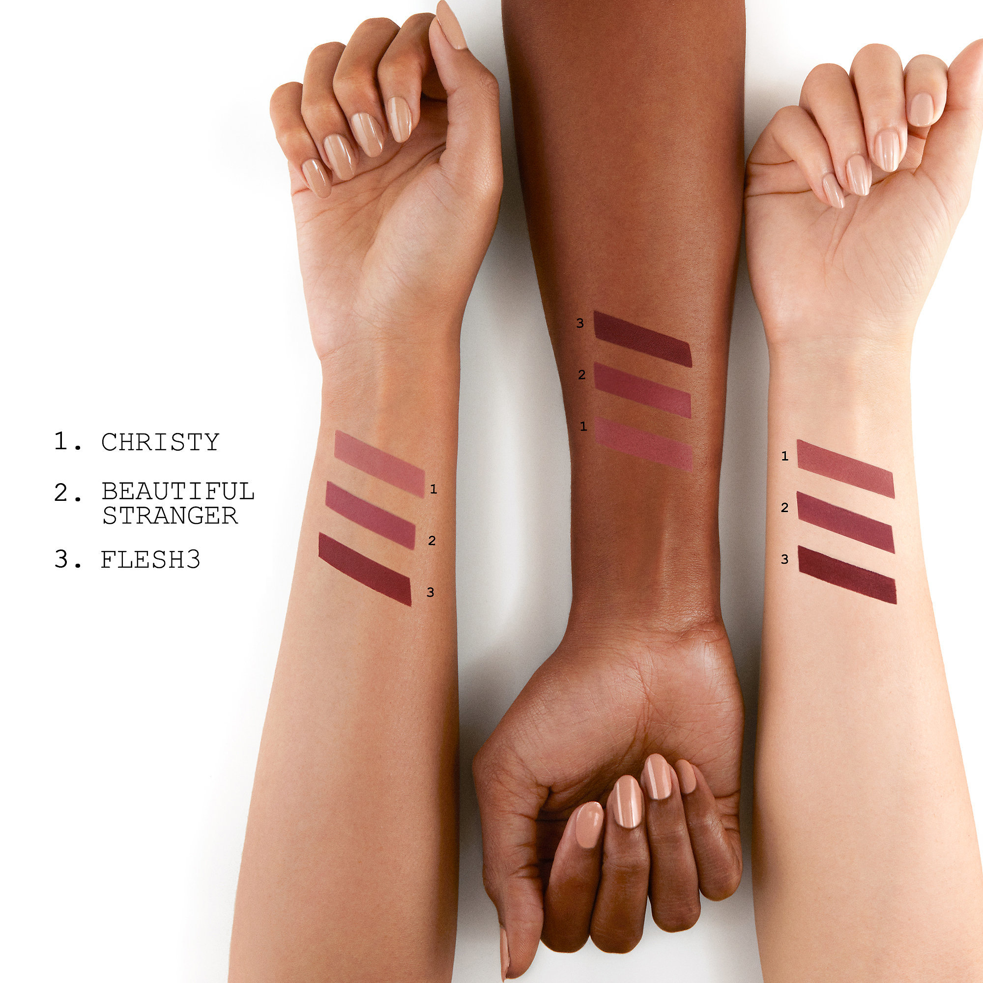 PAT MCGRATH LABS LUST: Mini MatteTrance™ Lipstick Trio: Skin Show V2