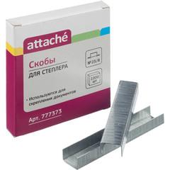Скобы канцелярские для степлера №23/8 Attache оцинкованные (1000 штук в упаковке)