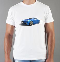 Футболка с принтом Ауди (Audi) белая 007