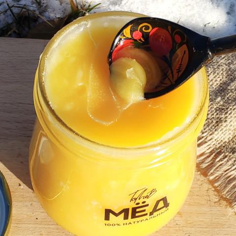 Мёд цветочный конец лета 2020 Ивановка 660 г