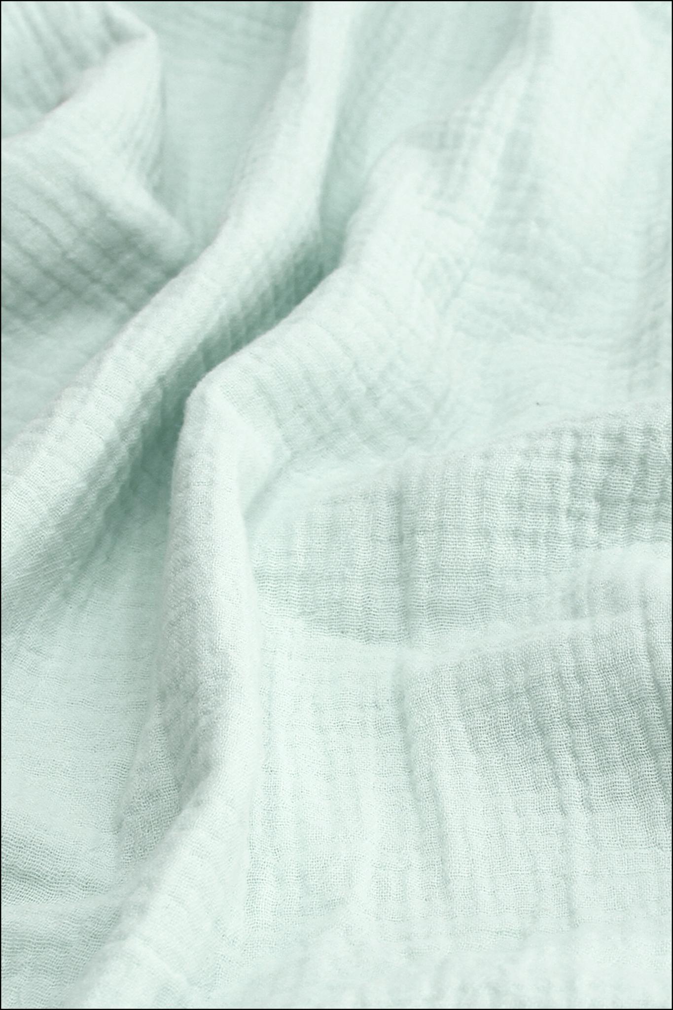 Ткань муслиновая, бледно-голубой