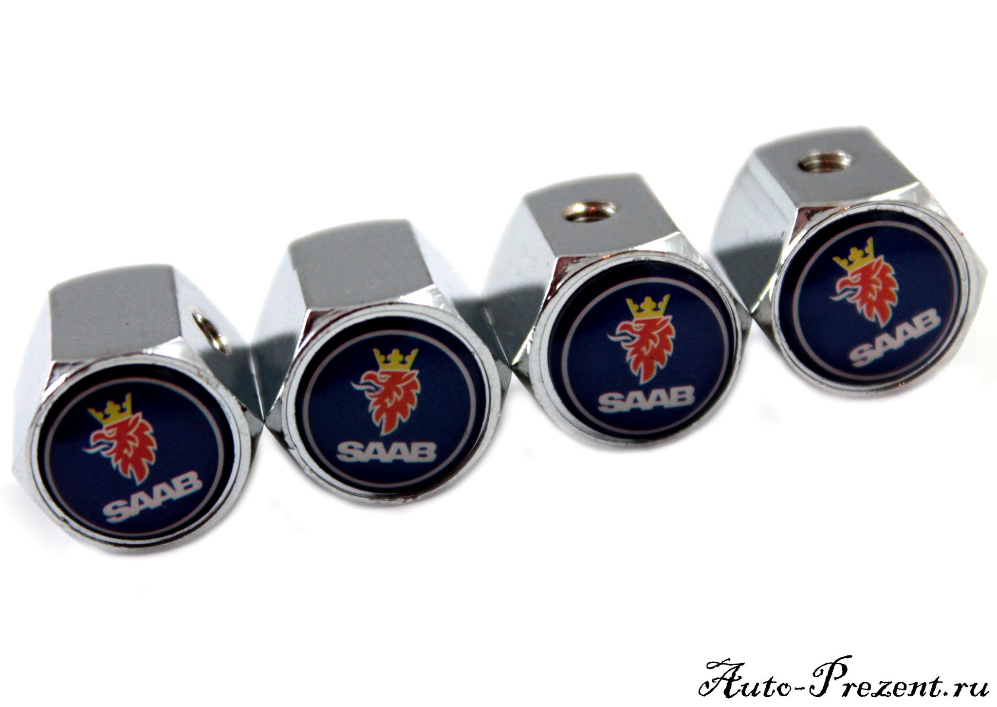 Колпачки на ниппель SAAB с защитой от кражи