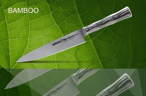 SBA-0021 Нож кухонный стальной универсальный SAMURA BAMBOO