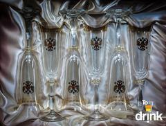 Подарочный набор из 6 хрустальных фужеров для шампанского «Министерский», 190 мл, фото 2