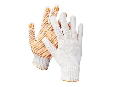 STAYER RIGID, размер L-XL, 10 пар в упаковке, перчатки трикотажные для тяжелых работ, х/б 7 класс, с ПВХ-гель покрытием (точка).