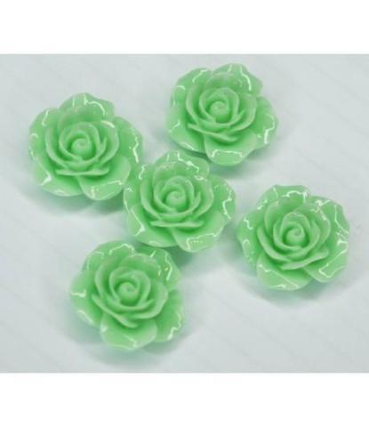 178 стразы цветочки зеленые 5 шт