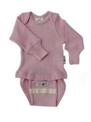 Боди/кофта с длинным рукавом ManyMonths, Нежно-розовый (шерсть мериноса 100%)