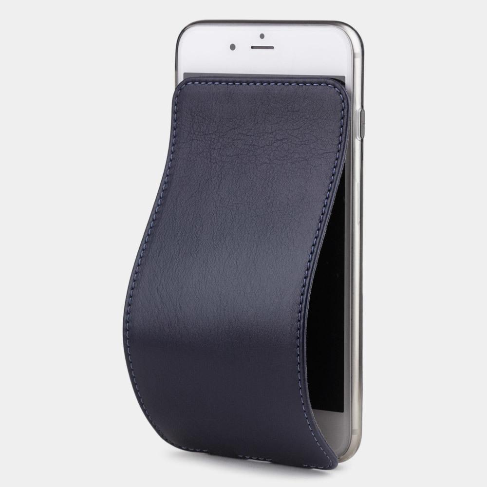 Чехол для iPhone 8/SE из натуральной кожи теленка, цвета индиго