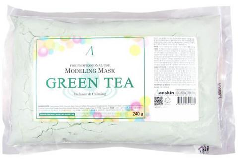 Anskin Original Маска альгинатная с экстрактом зеленого чая Green Tea Modeling Mask, 240 гр