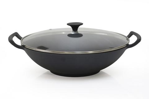 4079 FISSMAN Сковорода ВОК чугунная 35 см / 5 л