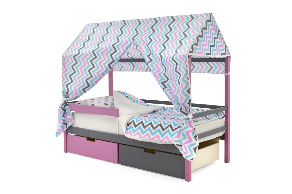 Кровать-домик «Svogen лаванда-графит»