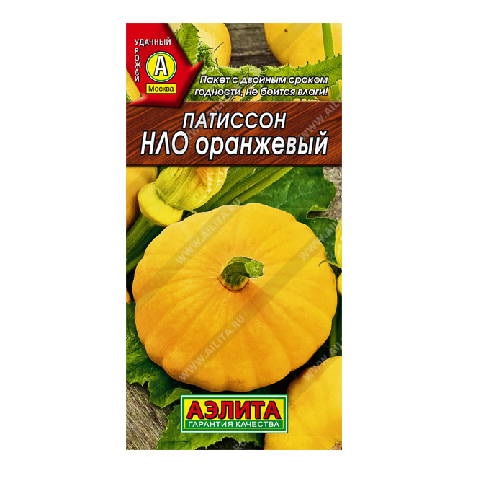 Патиссон НЛО оранжевый   (Аэлита)