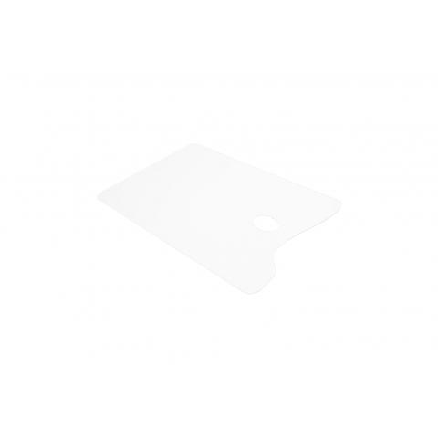 Палитра акриловая прямоугольная, прозрачная, 20х30см, оргстекло 2мм,ПП20302
