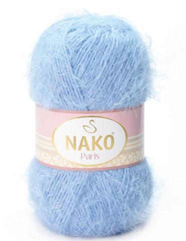 Пряжа Nako Paris 4129 голубой