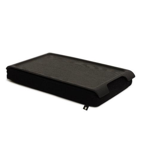 Подставка с деревянным подносом laptray мини венге-черная