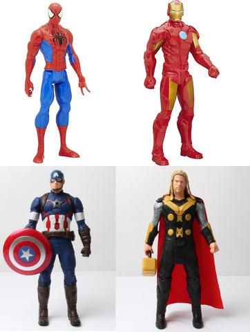 Человек Паук, Тор, Капитан Америка, Железный Человек игрушки