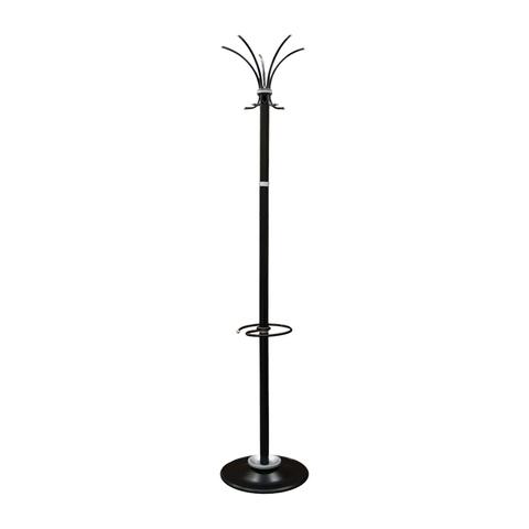 Вешалка напольная Титан Класс-ТМЗ, металл, черная, 10 крючков, подставка для зонтов