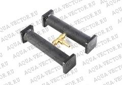 Распылитель воздуха резиновый двойной, 4*20см, c медным штуцером (ASE-505H)