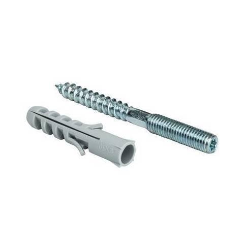 Шпилька для хомута STOUT - М8, длина 100 мм (с дюбилем М10, длина 50 мм)
