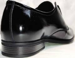 Черные мужские туфли кожа лаковые Ikoc 2118-6 Patent Black Leather.