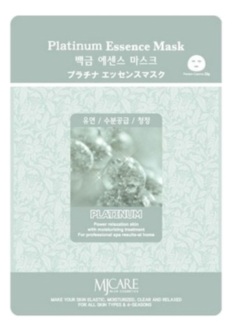 MIJIN Маска тканевая платина Platinum Essence Mask